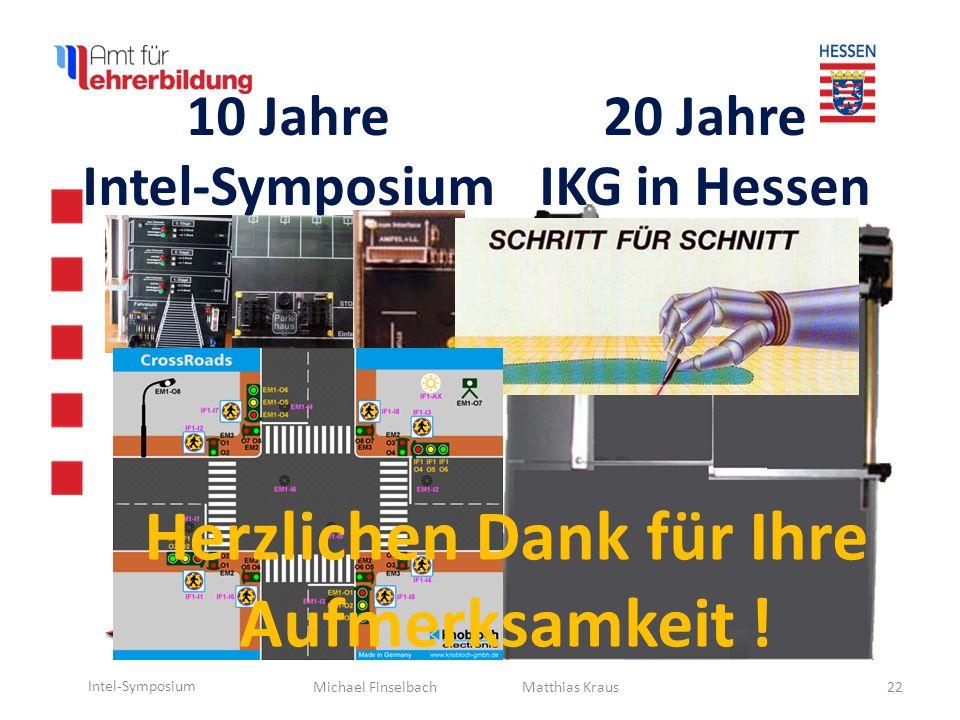10 Jahre Intel-Symposium Herzlichen Dank für Ihre Aufmerksamkeit !