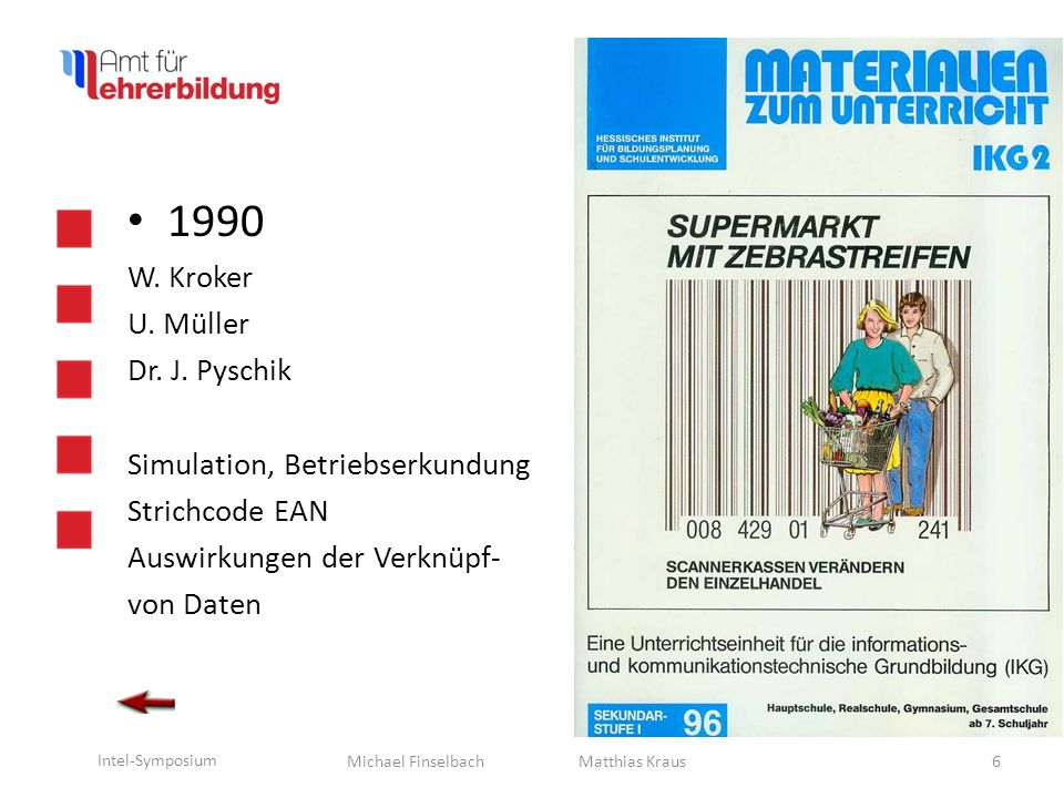1990 W. Kroker U. Müller Dr. J. Pyschik Simulation, Betriebserkundung