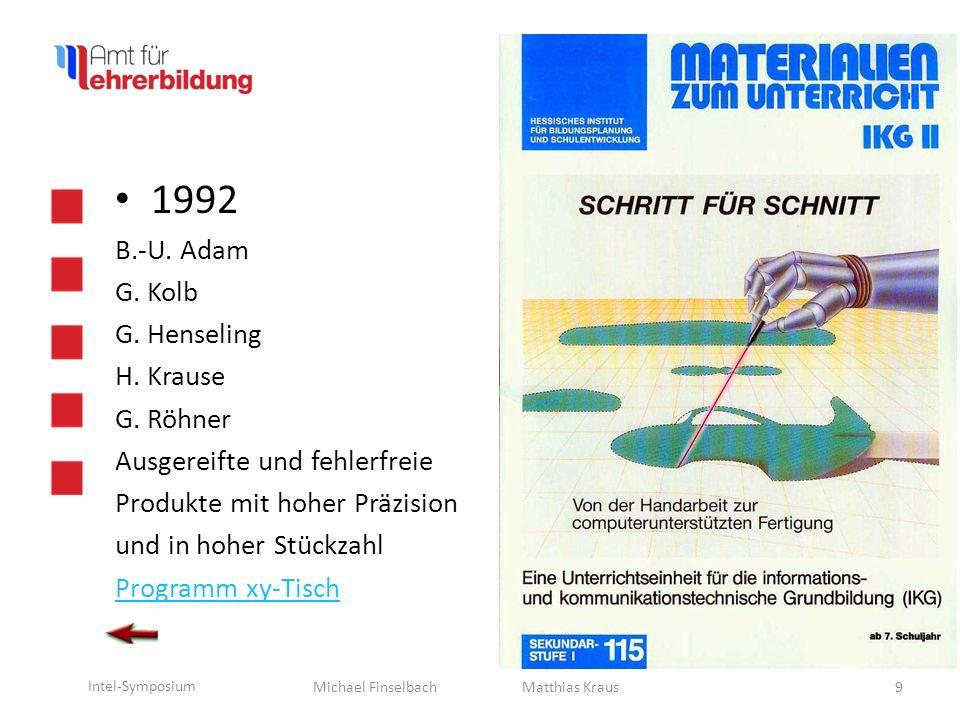 1992 B.-U. Adam G. Kolb G. Henseling H. Krause G. Röhner
