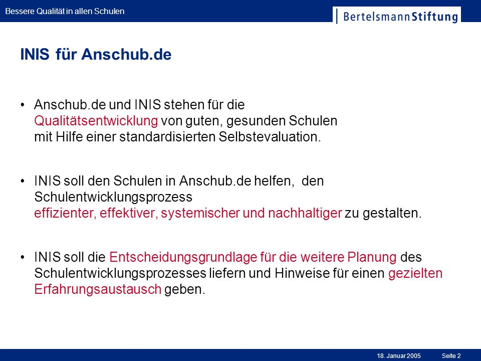 INIS für Anschub.de