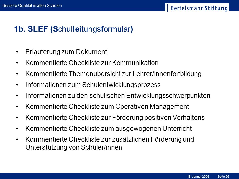 1b. SLEF (Schulleitungsformular)
