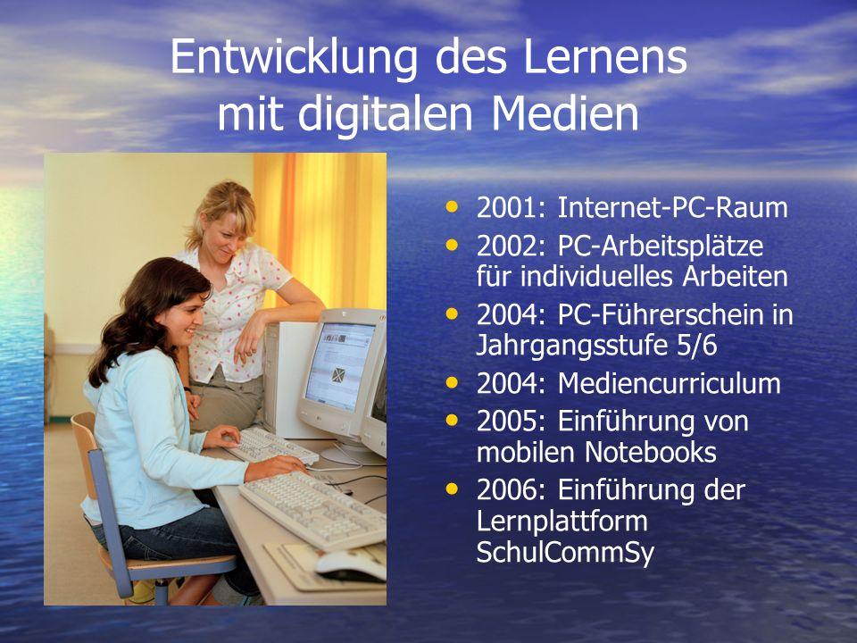 Entwicklung des Lernens mit digitalen Medien