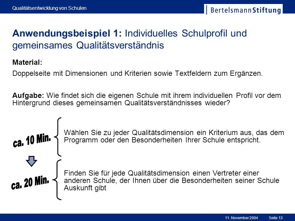 Qualitätsentwicklung von Schulen