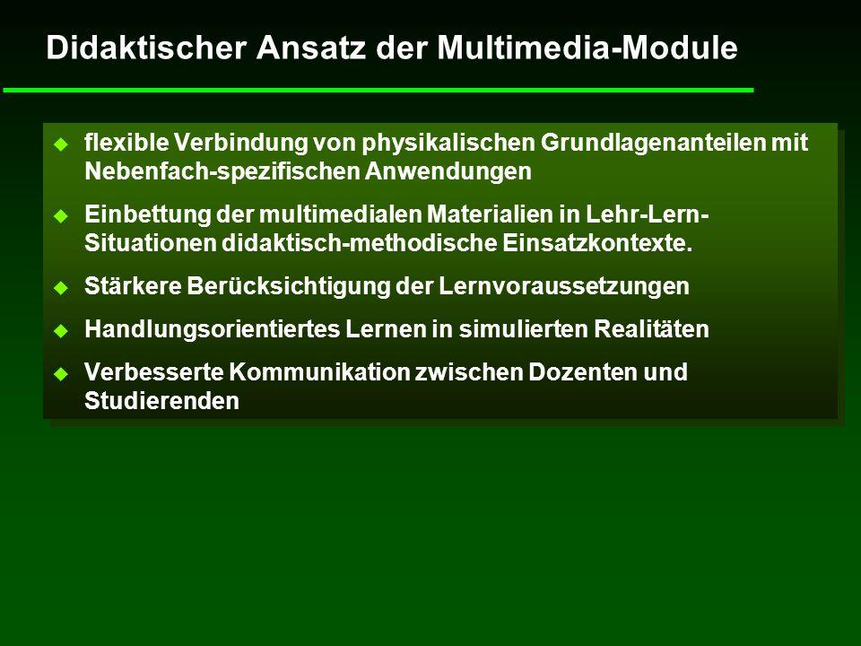 Didaktischer Ansatz der Multimedia-Module