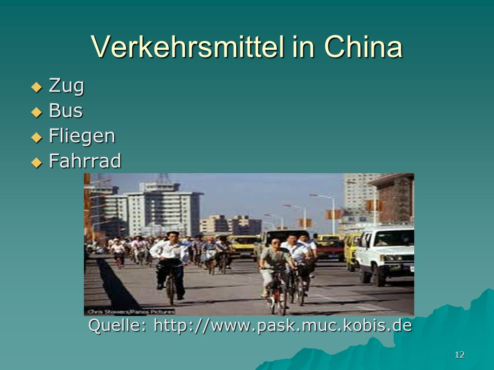 Verkehrsmittel in China