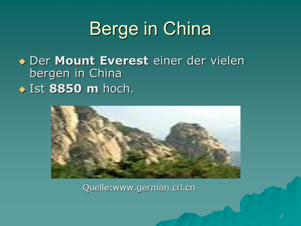 Berge in China Der Mount Everest einer der vielen bergen in China