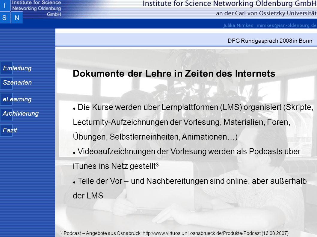 Dokumente der Lehre in Zeiten des Internets