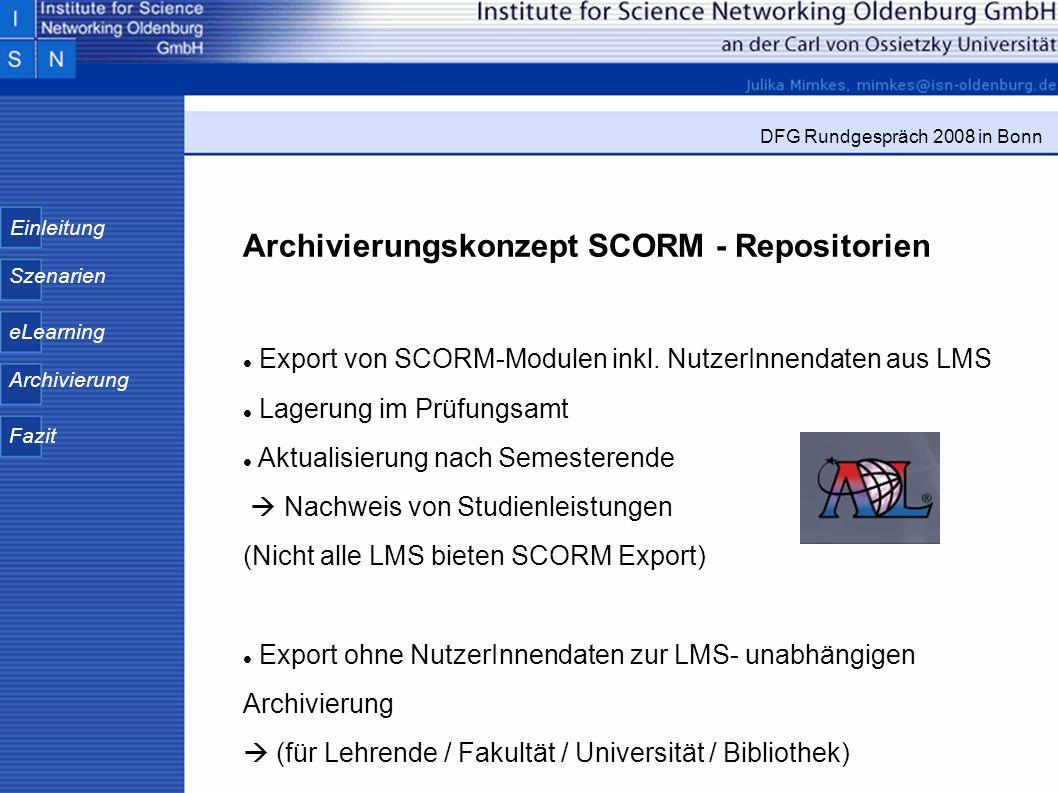 Archivierungskonzept SCORM - Repositorien