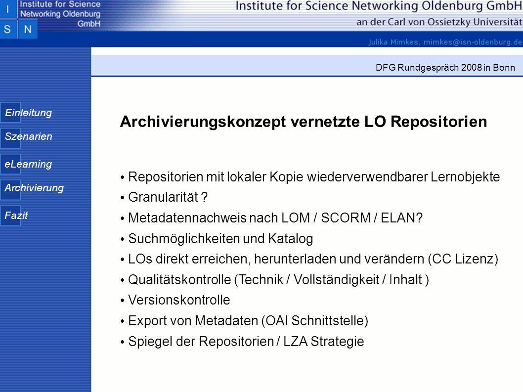 Archivierungskonzept vernetzte LO Repositorien