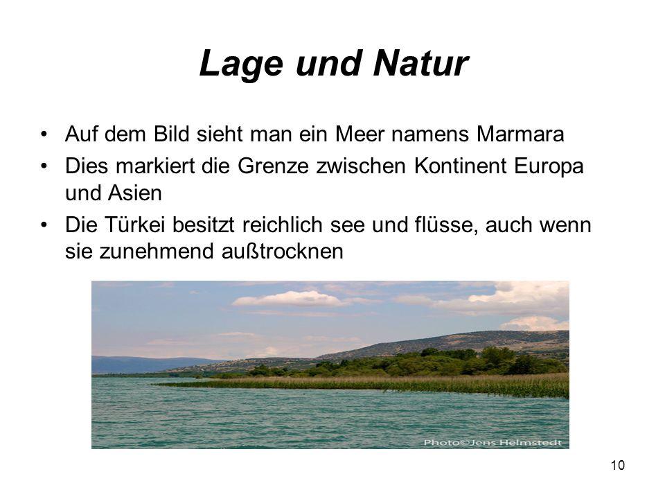 Lage und Natur Auf dem Bild sieht man ein Meer namens Marmara