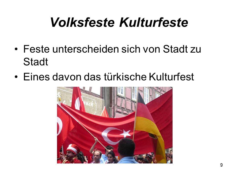 Volksfeste Kulturfeste