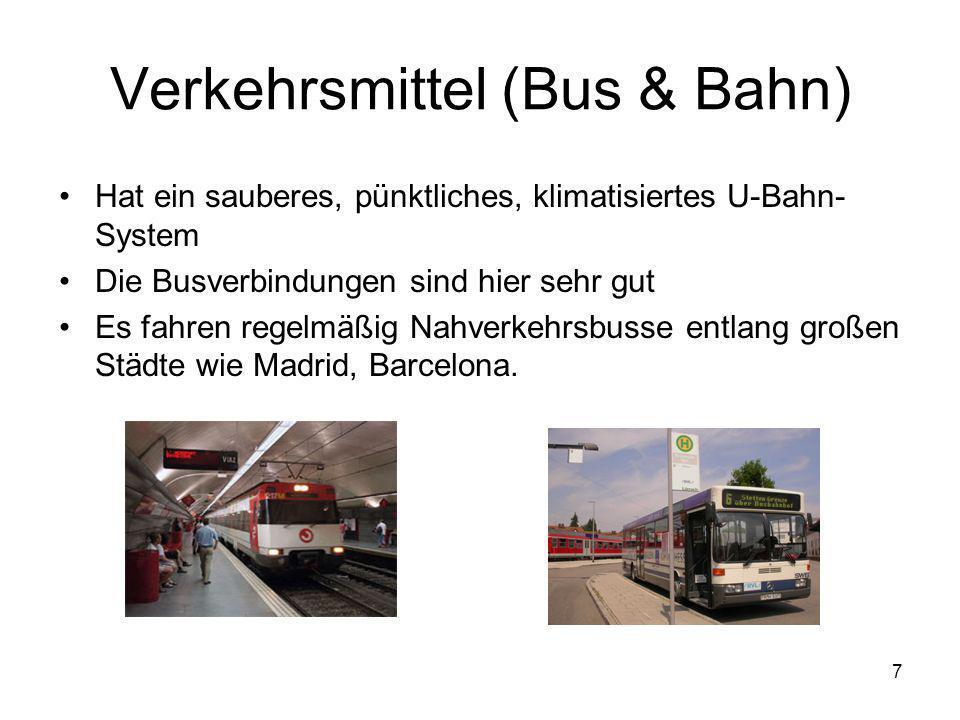Verkehrsmittel (Bus & Bahn)
