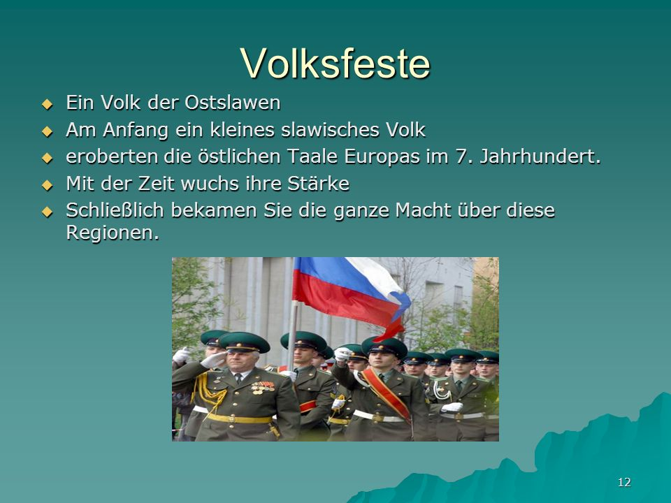 Volksfeste Ein Volk der Ostslawen