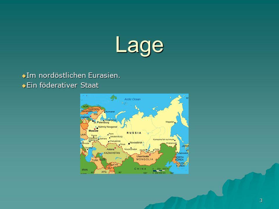 Im nordöstlichen Eurasien. Ein föderativer Staat