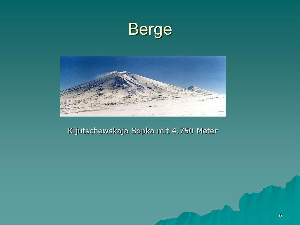 Berge Kljutschewskaja Sopka mit 4.750 Meter