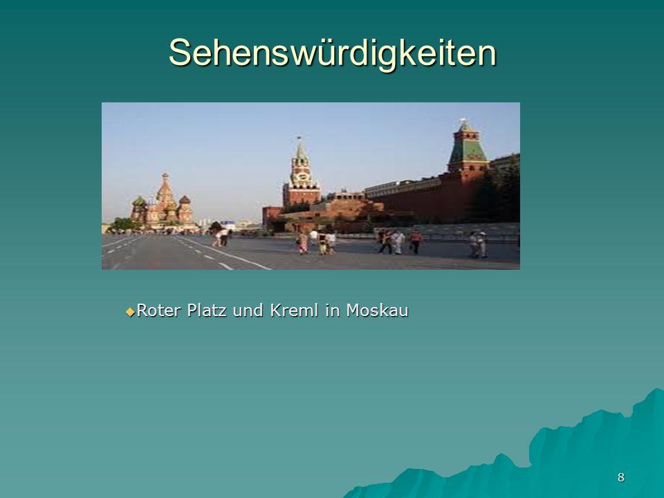 Sehenswürdigkeiten Roter Platz und Kreml in Moskau