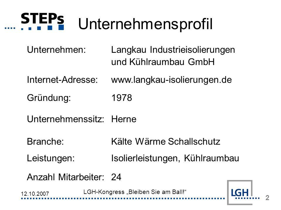 Unternehmensprofil Unternehmen: Langkau Industrieisolierungen und Kühlraumbau GmbH. Internet-Adresse: www.langkau-isolierungen.de.