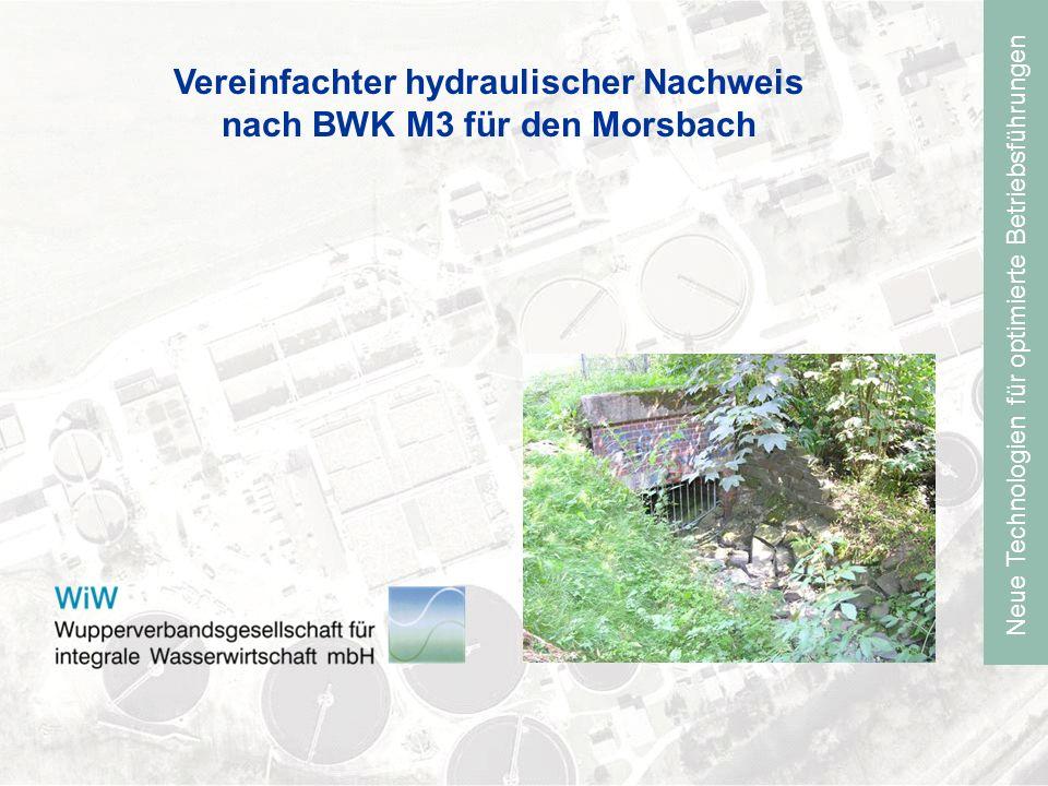 Vereinfachter hydraulischer Nachweis nach BWK M3 für den Morsbach