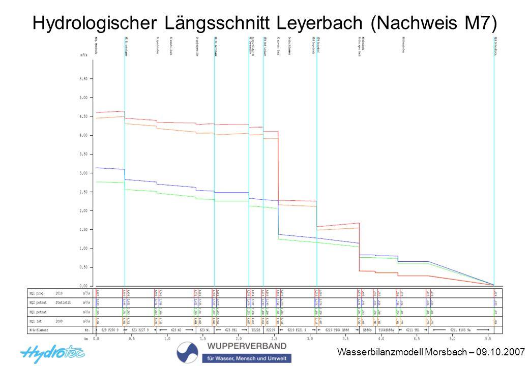 Hydrologischer Längsschnitt Leyerbach (Nachweis M7)