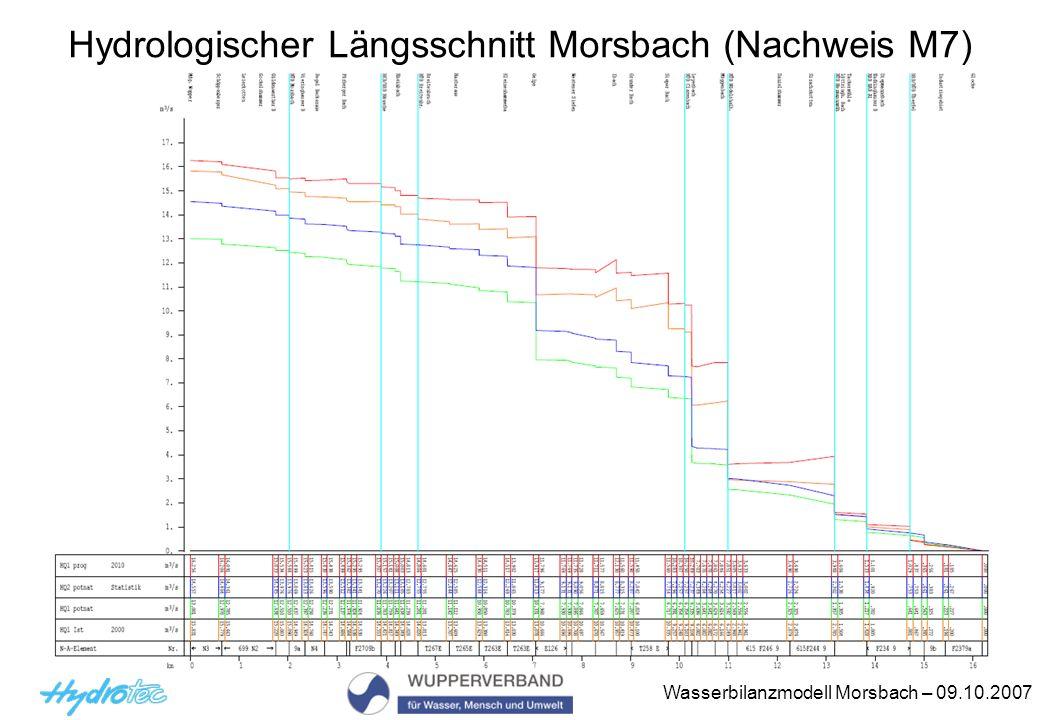 Hydrologischer Längsschnitt Morsbach (Nachweis M7)