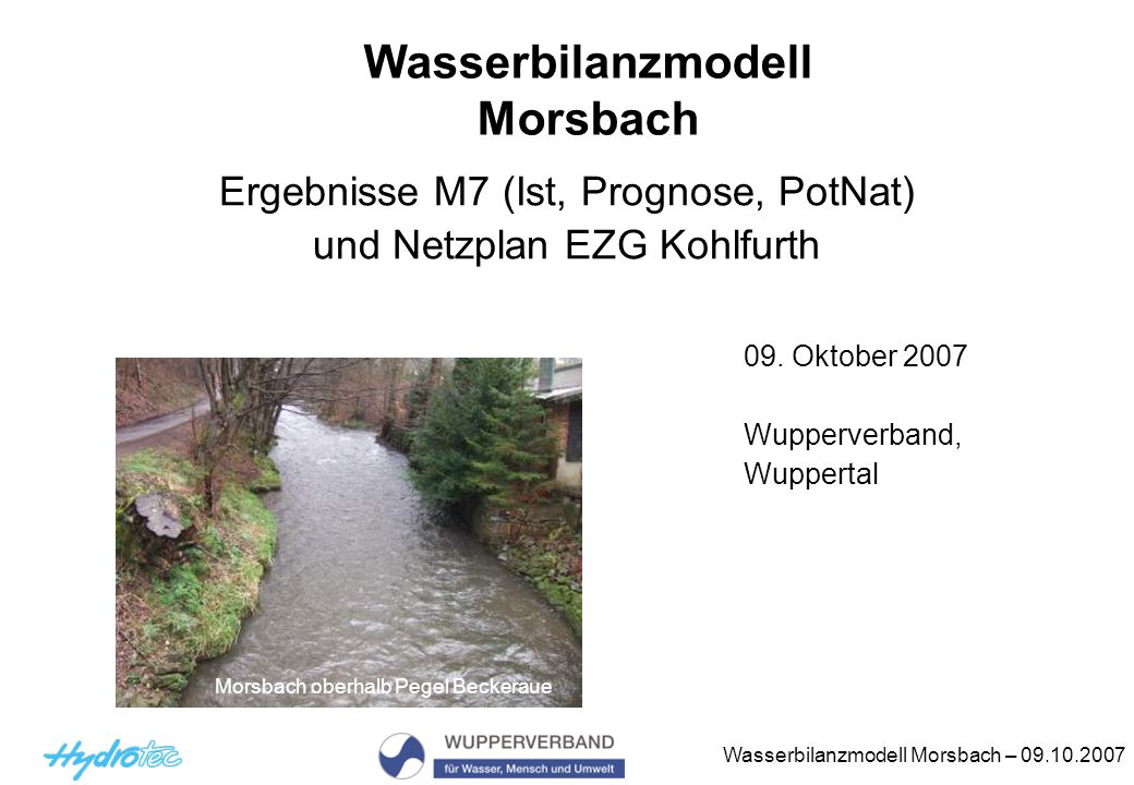 Wasserbilanzmodell Morsbach