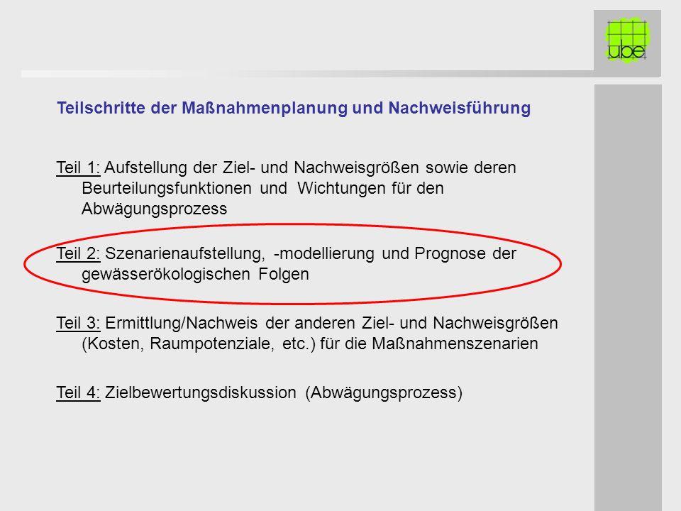 Teilschritte der Maßnahmenplanung und Nachweisführung