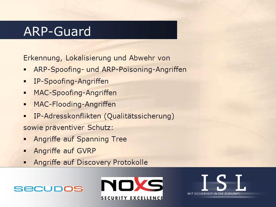 ARP-Guard Erkennung, Lokalisierung und Abwehr von