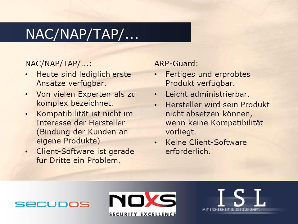 NAC/NAP/TAP/... NAC/NAP/TAP/...: