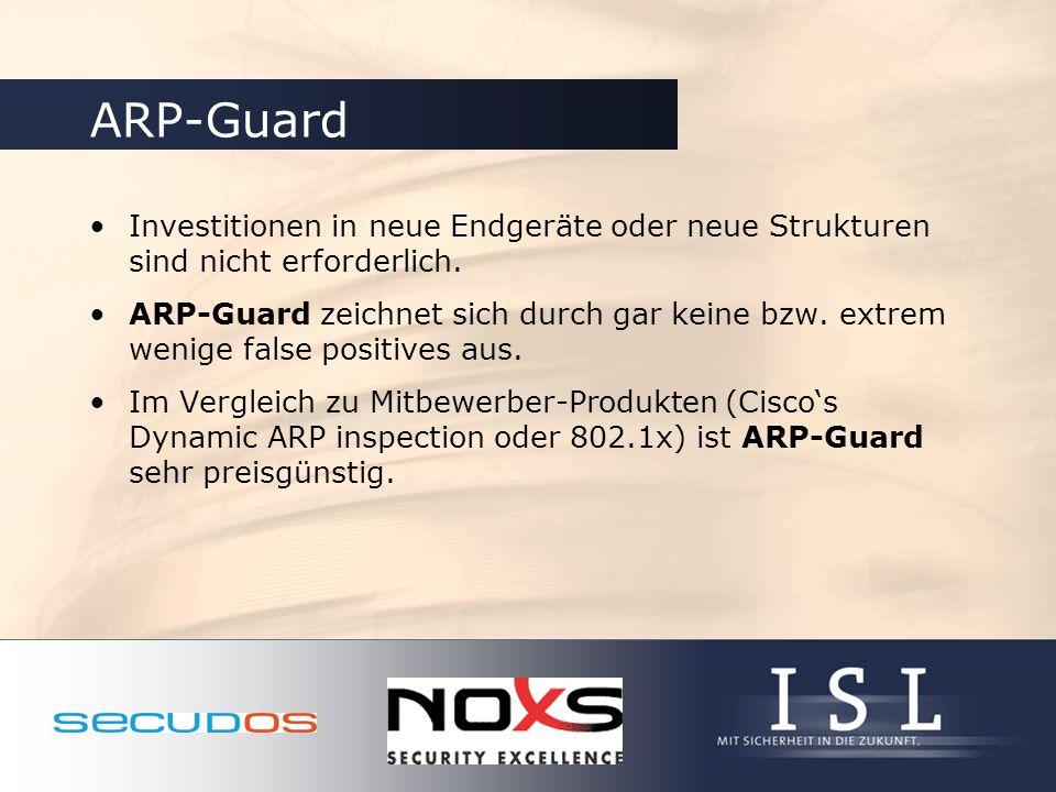 ARP-Guard Investitionen in neue Endgeräte oder neue Strukturen sind nicht erforderlich.