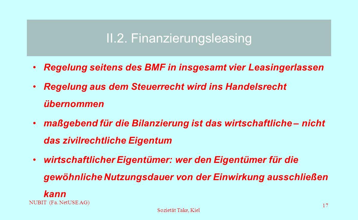II.2. Finanzierungsleasing