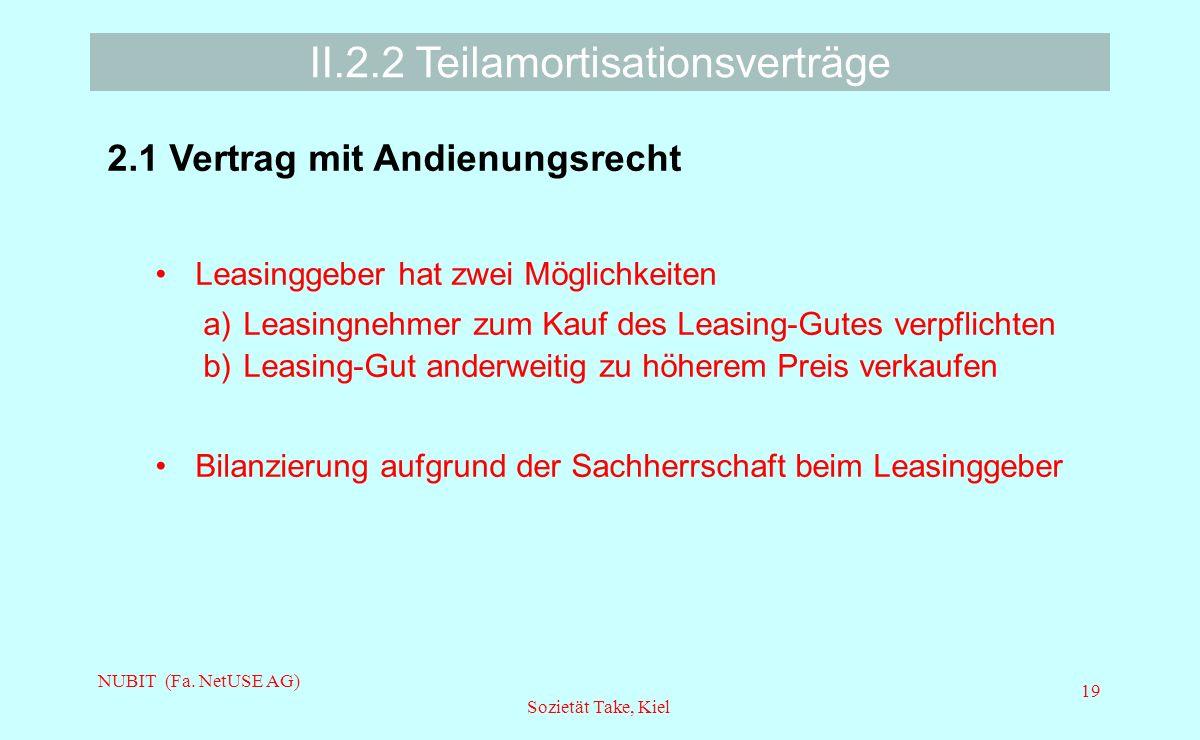II.2.2 Teilamortisationsverträge