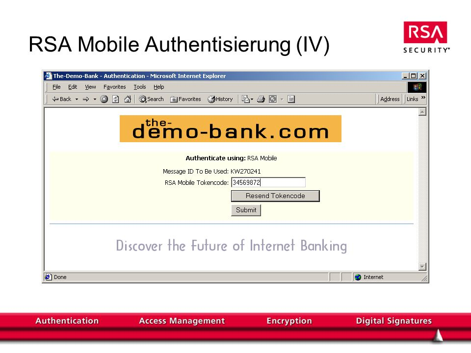 RSA Mobile Authentisierung (IV)