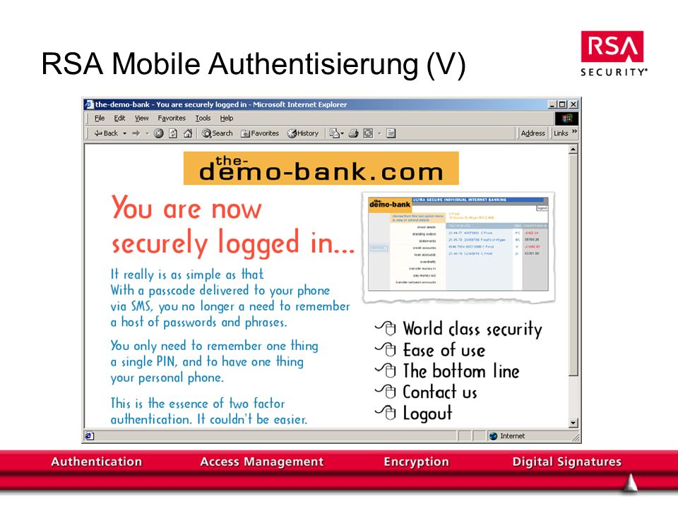 RSA Mobile Authentisierung (V)