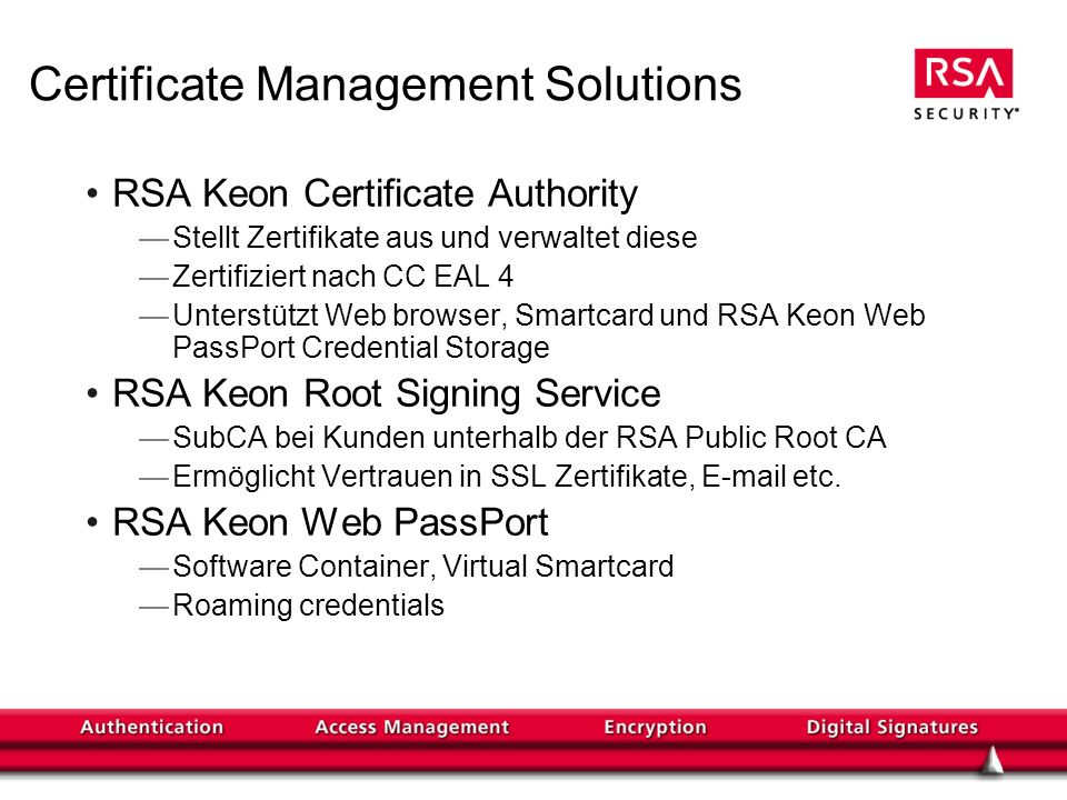 Certificate Management Solutions