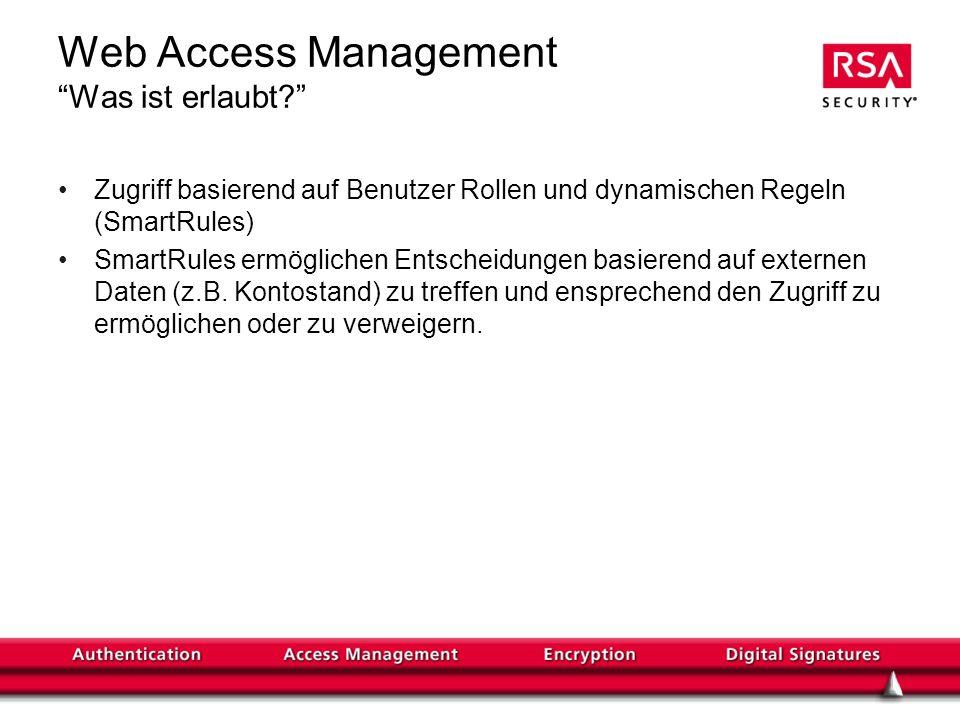 Web Access Management Was ist erlaubt