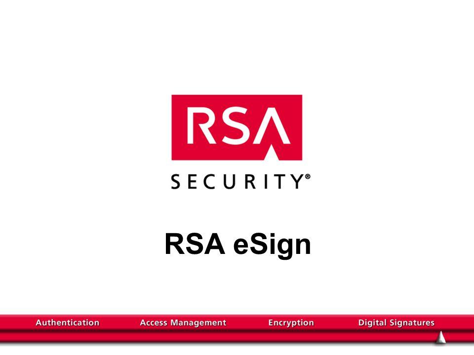 RSA eSign