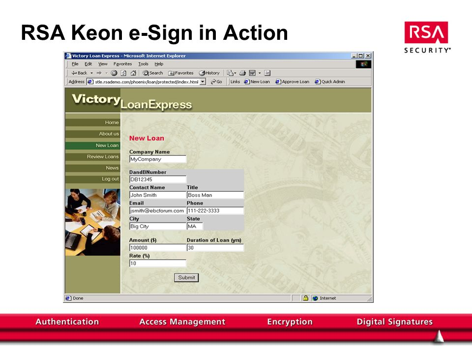 RSA Keon e-Sign in Action
