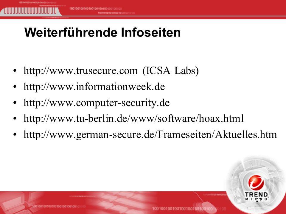 Weiterführende Infoseiten