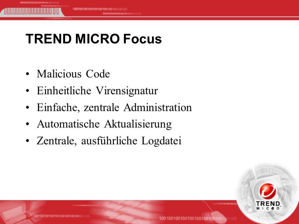 TREND MICRO Focus Malicious Code Einheitliche Virensignatur