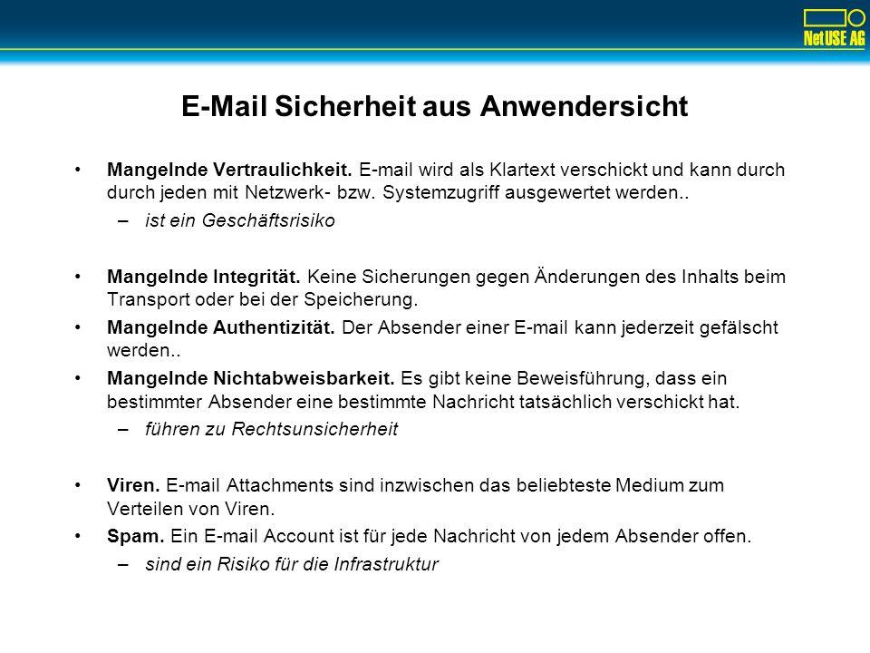 E-Mail Sicherheit aus Anwendersicht