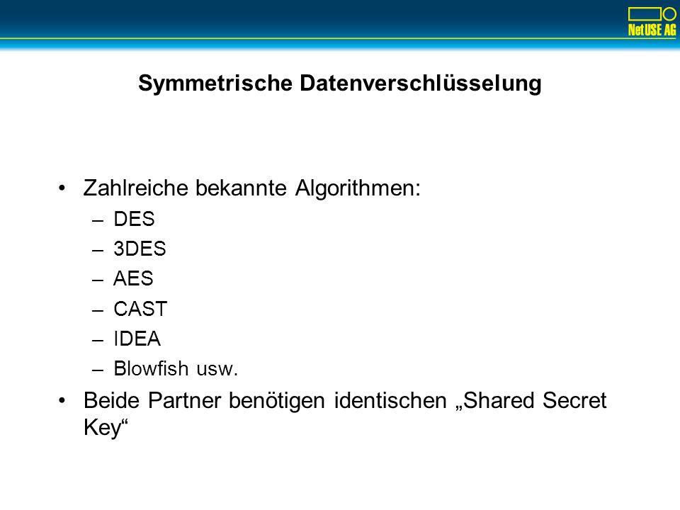 Symmetrische Datenverschlüsselung