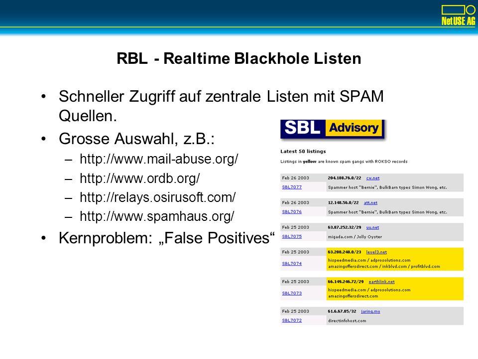 RBL - Realtime Blackhole Listen