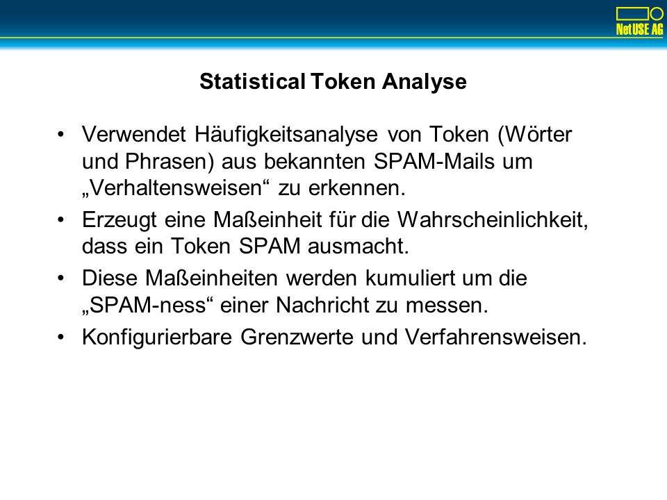 Statistical Token Analyse