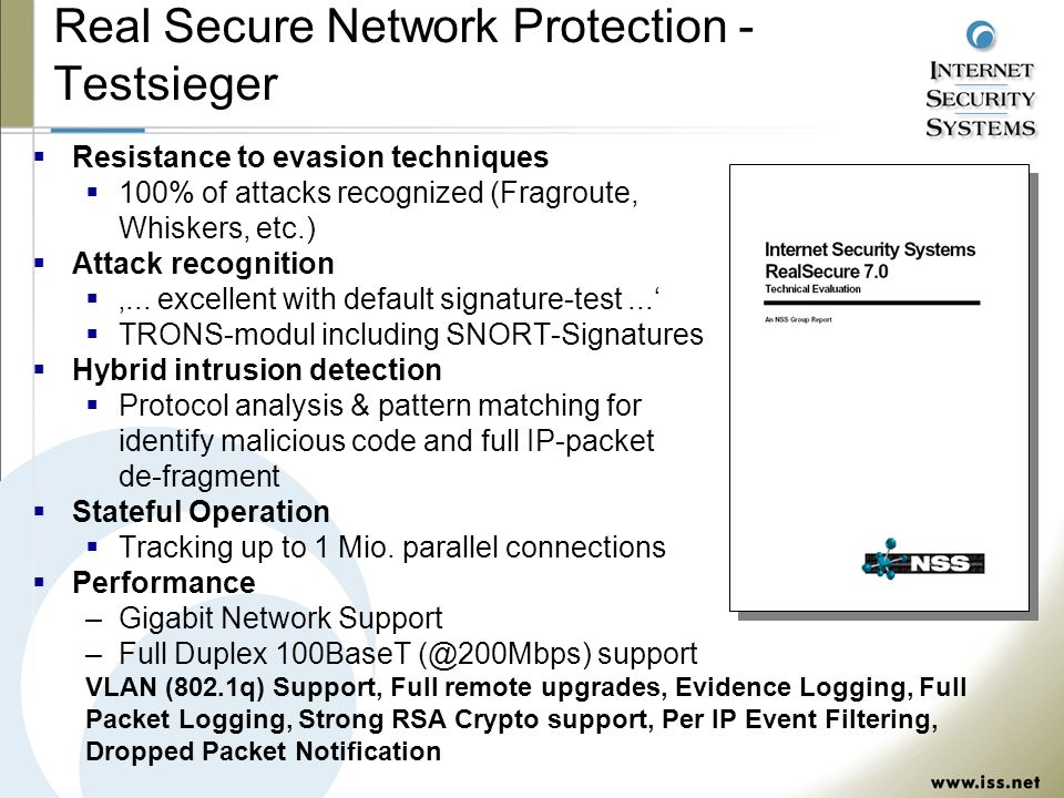 Real Secure Network Protection - Testsieger