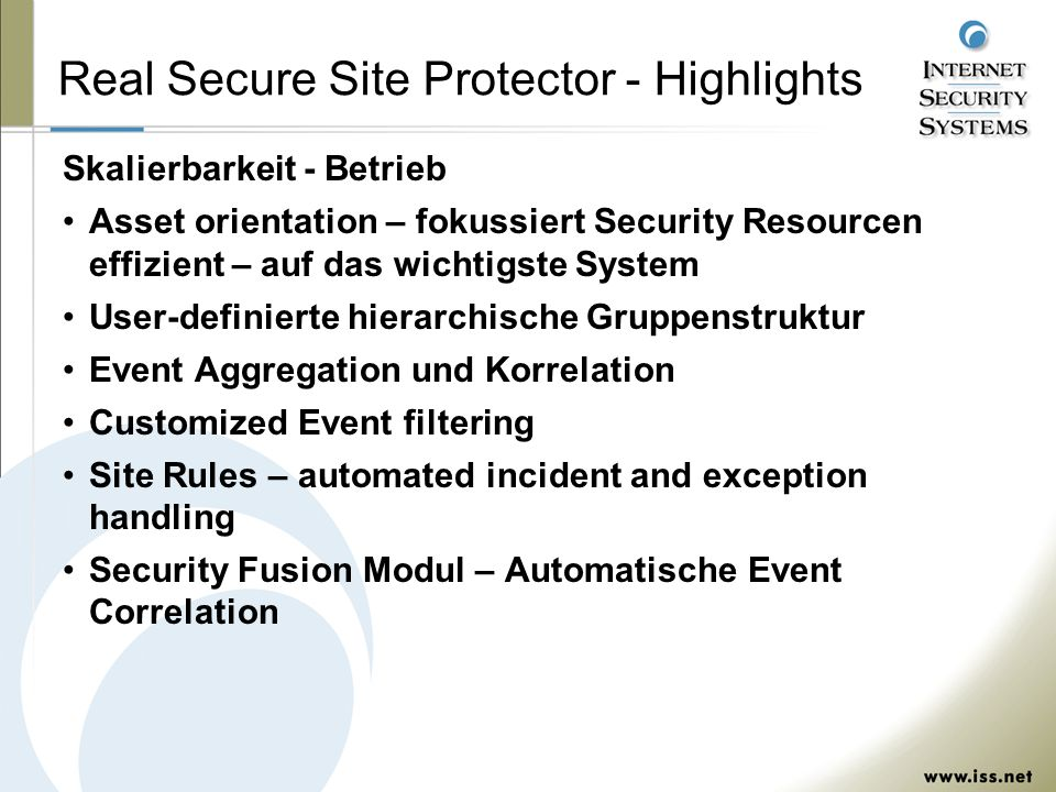 Real Secure Site Protector - Highlights