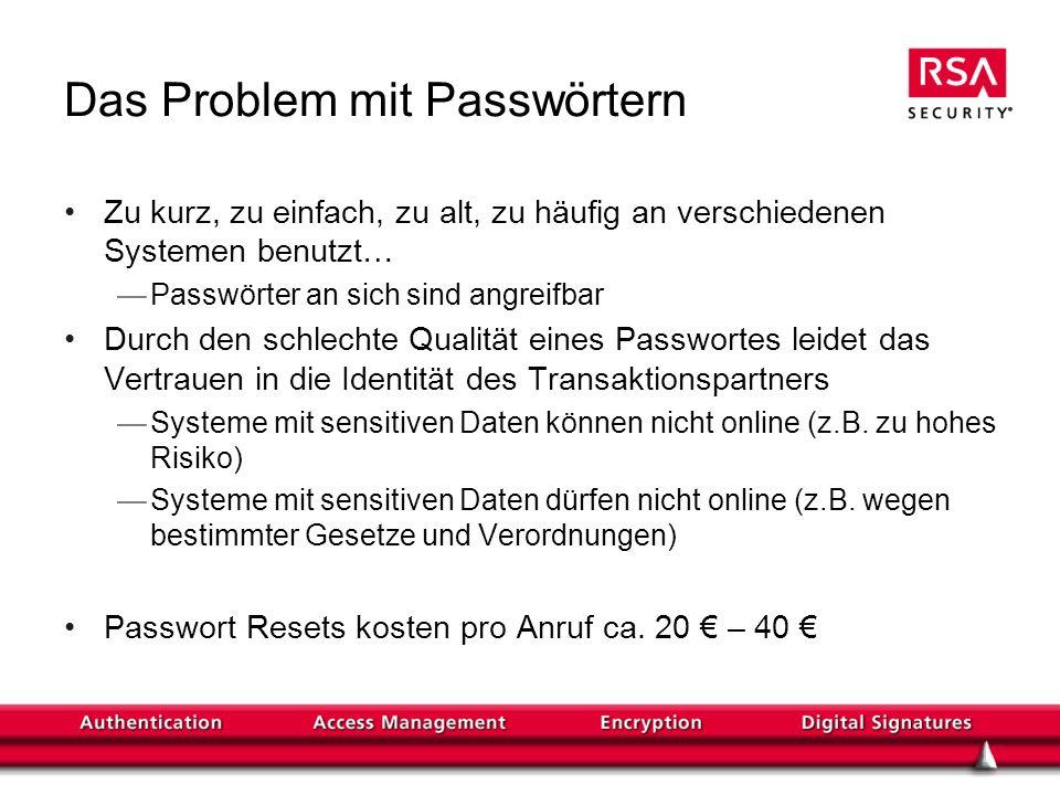 Das Problem mit Passwörtern