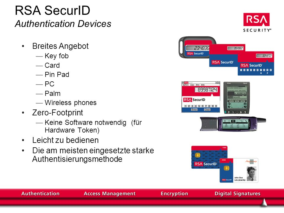 RSA SecurID Authentication Devices