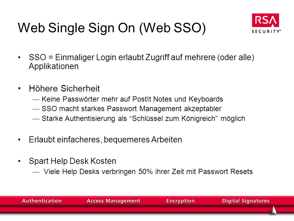 Web Single Sign On (Web SSO)
