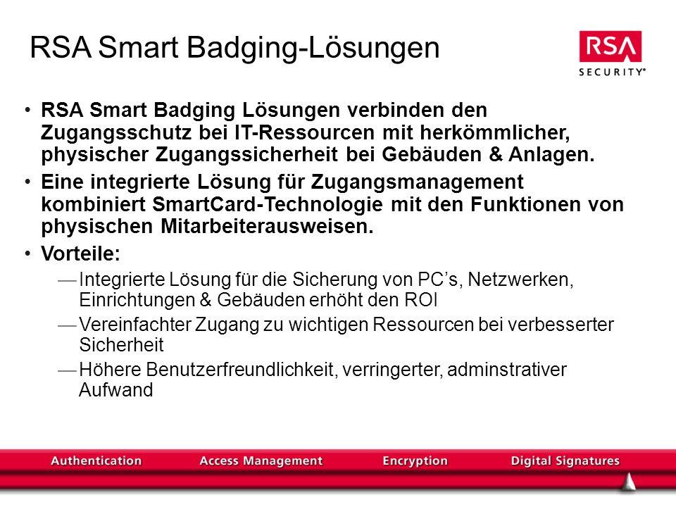 RSA Smart Badging-Lösungen
