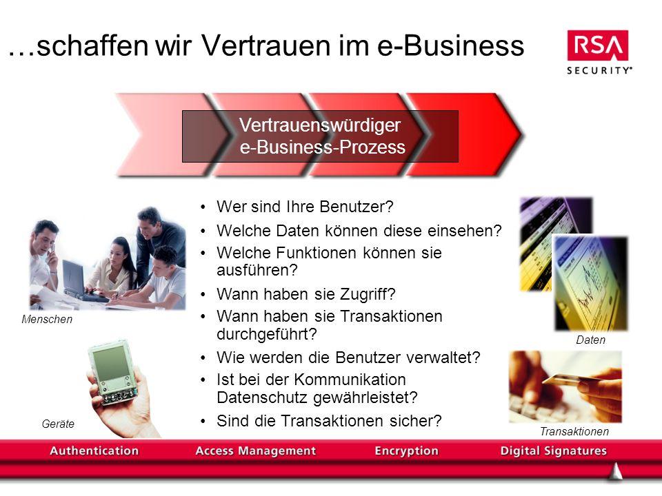 …schaffen wir Vertrauen im e-Business